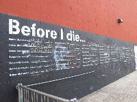 """Before I Die..."" wall by Candy Chang."