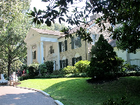 The elegant Southern-style house where Elvis lived during his fame.