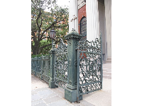 Ironwork gate to the basilica.