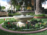 The Spanish fountain, reflects the Camarillo's cultural heritage. It was cast in cement in LA and made to resemble the fountains at California's Spanish missions. Its proportions are unique and were made to compliment the size of the ranch house.