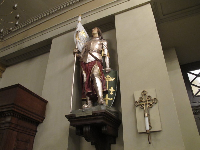 Joan of Arc sculpture in St Louis Cathedral.