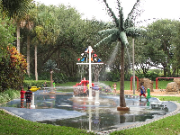 The splash pad in summer!