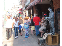Street performers on Beale Street.