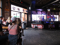 Live music inside Honky Tonk Central.