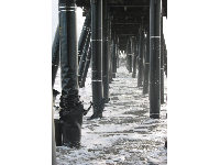 Standing underneath the pier is so much fun!
