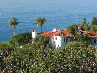 Spanish mansion overlooking the sea...