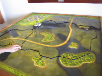 Model of the boardwalk, in the nature center.