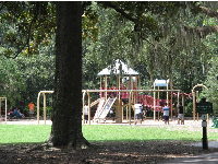 The smaller playground in Forsyth Park.