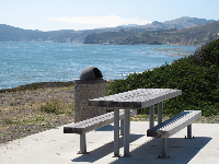 Picnic table with a wonderful view.