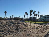 Looking toward the lawn that fronts the beach.