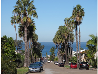 Newport Avenue leads up from the beach, with great views of the ocean.