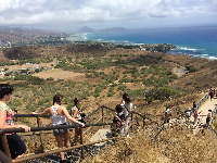 Lots of stairs to climb and great views of Koko Head and Koko Crater.