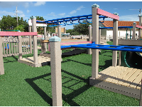 Monkey bars that are low enough for little kids to try them out!