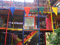 The colorful indoor playground.