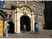 Bike riding through Binnenhof.