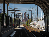 Looking toward The Hague from the Voorburg railway station.