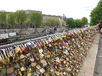Lovers' locks on Pont Neuf.