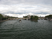 You can see Pont Neuf and Notre Dame in the distance from Pont des Arts.