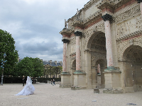 Getting married at the Tuileries Garden.