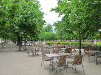 Chairs and tables for picnics.
