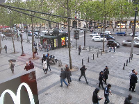 You can watch the pedestrians on the Champs-Elysee from the huge windows in McDonalds.