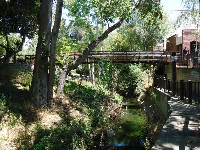 Bridge over the creek which runs parallel to Higuera St.