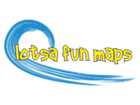 The train parks in front of the carousel.