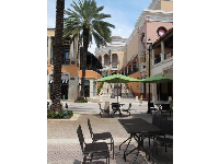 Seating outdoors at CityPlace.