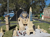 Las Vegas Luxor hotel, made of lego. Check out the beautiful lake behind.