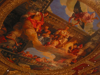 Painted ceiling, near the entrance.