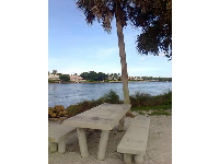 Picnic table by the inlet. I love this spot.