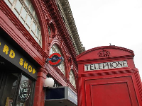 British phone booth.