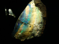 Huge opal from Lightning Ridge, Australia.