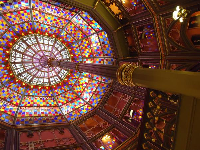 The glorious kaleidoscope ceiling! Breathtaking!
