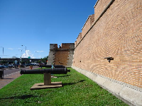 The perimeter of the fort.