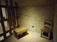 Replica of a jail cell.