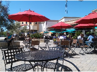 One of the loveliest things you can do in Goleta- sit outside at Anna's Bakery and enjoy the cheerful view!