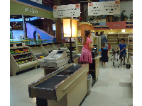 Kids love the supermarket area.