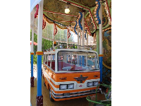 The bus on the carousel!