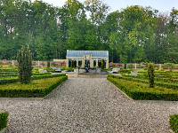 The formal gardens.