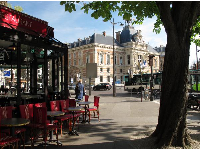 View of the Mairie from a brasserie.