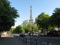 View of the Eiffel Tower.