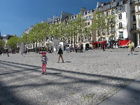 Place Georges Pompidou is a wonderful sunny plaza in front of the Centre Pompidou.