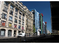 The Centre Pompidou, as seen from Rue du Renard.
