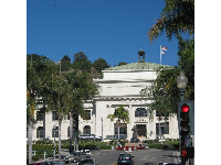 City Hall, as seen from Main Street, looking up California Street.