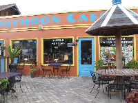 Honeymoon Cafe and its outdoor seating.