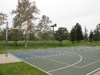 The basketball court.