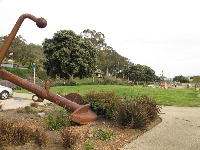 Anchor at the entrance to the park.