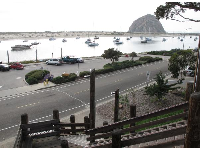 View of Morro Rock from the stairs that lead from Tidelands Park to Morro Ave.