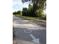 The Pinellas Trail bike path.